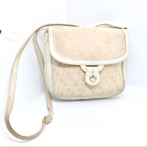 VINTAGE GUCCI HORSEBIT PRINT & CLASP CROSSBODY BAG